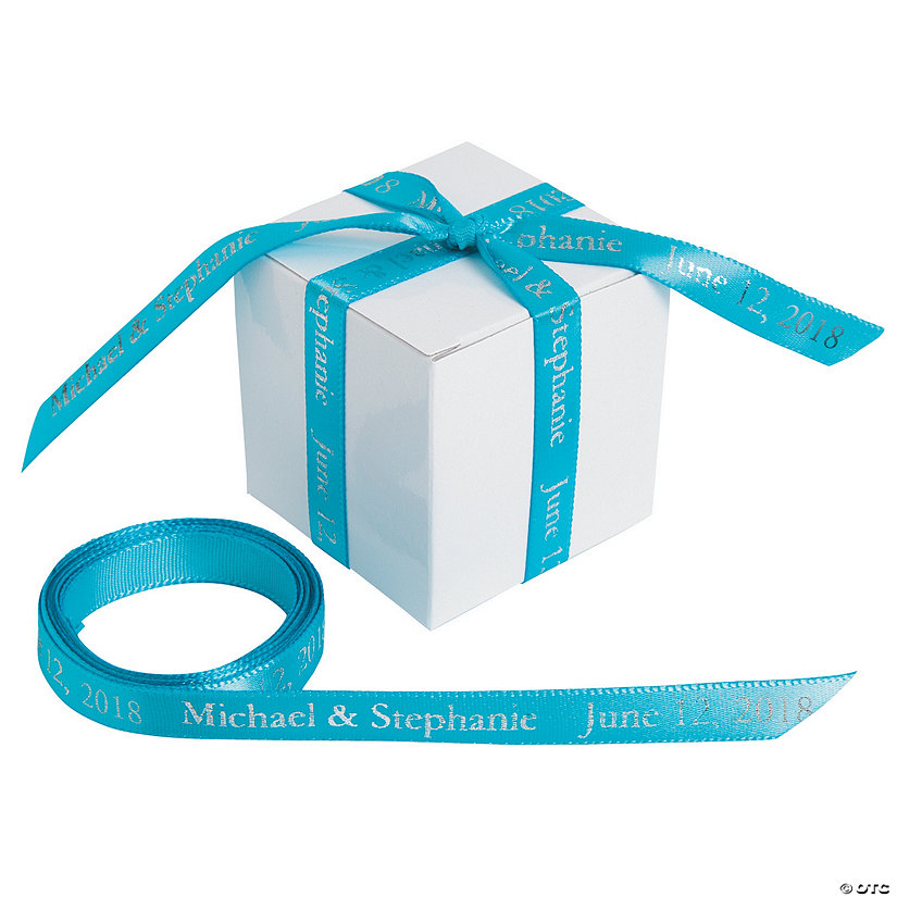 "Turquoise Personalized Ribbon - 3/8"" Image Thumbnail"