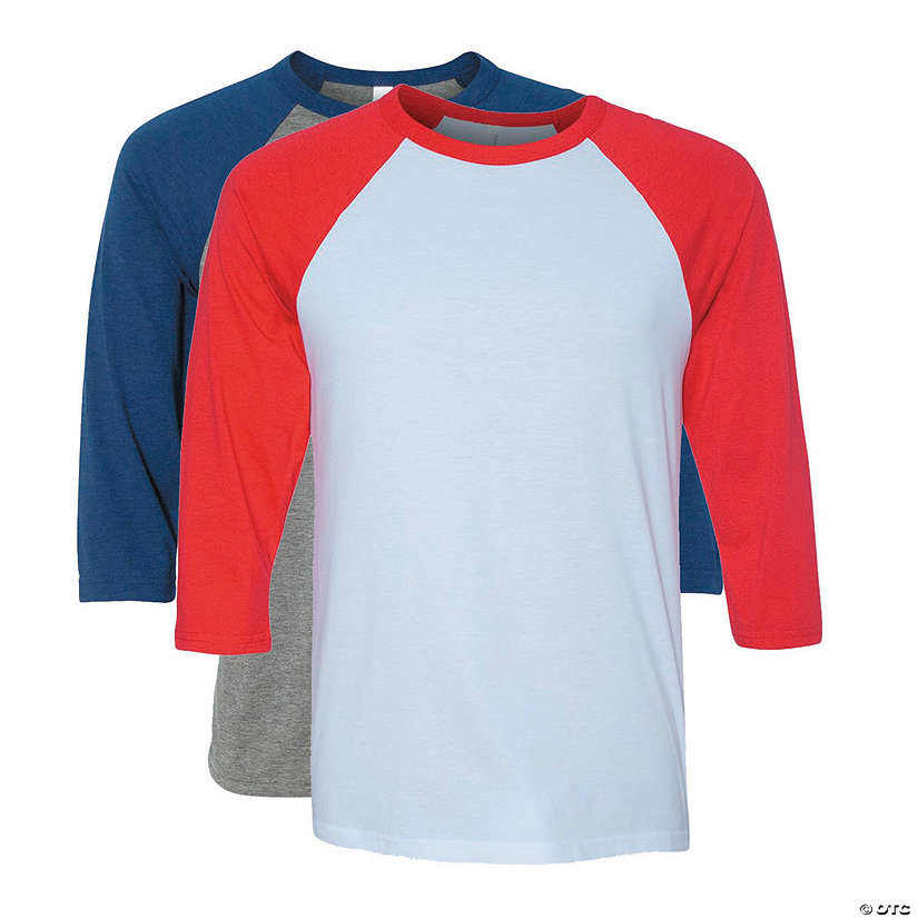 Unisex Three-Quarter Sleeve Baseball T-Shirt by Bella + Canvas