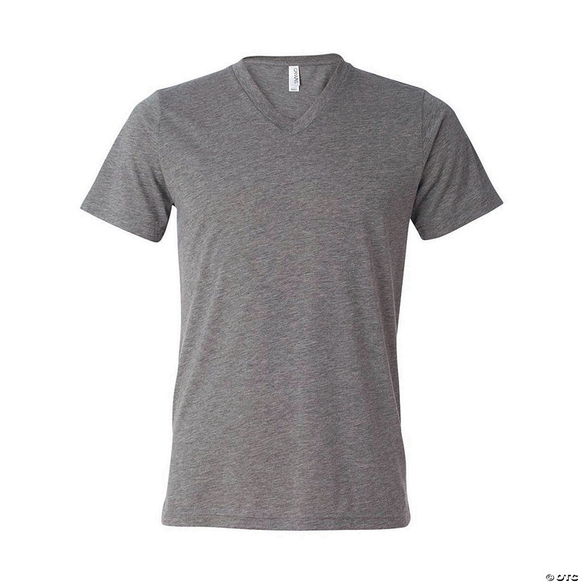 Unisex Tri-Blend Short Sleeve V-Neck T-Shirt by Bella + Canvas Image Thumbnail