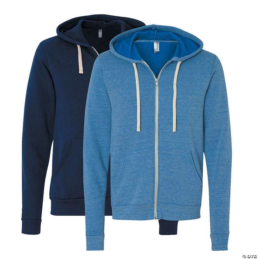 Unisex Tri-Blend Sponge Full-Zip Hooded Sweatshirt by Bella + Canvas