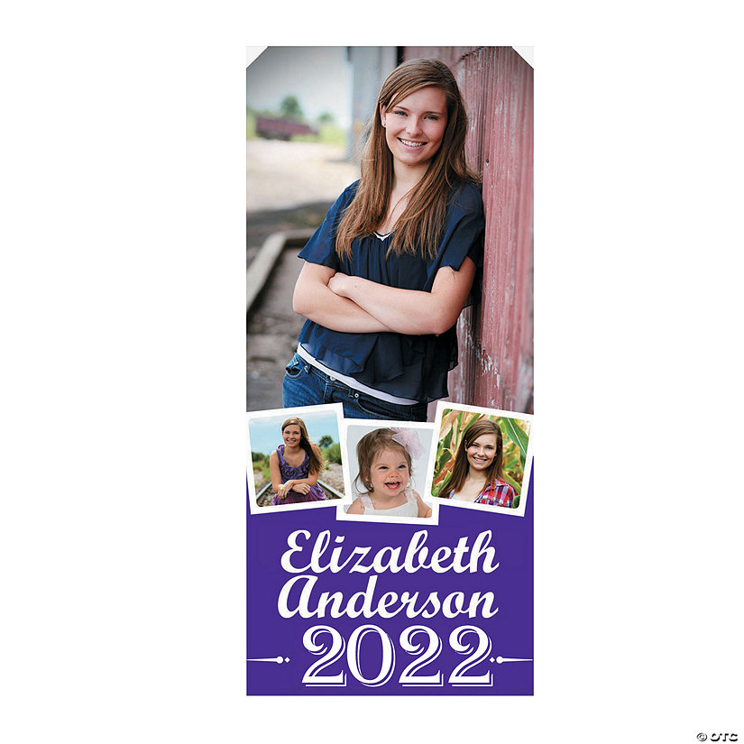 Vertical Four-Image Graduation Photo Door Custom Banner Image Thumbnail