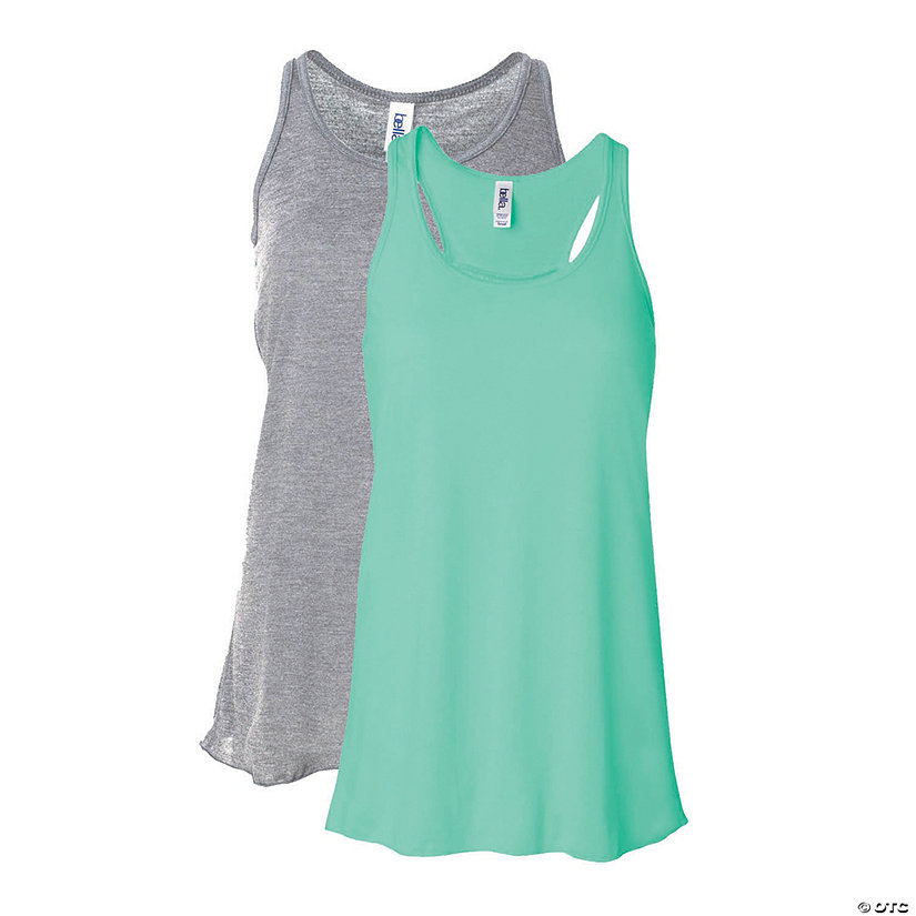 Women's Flowy Racerback Tank by Bella + Canvas Image Thumbnail