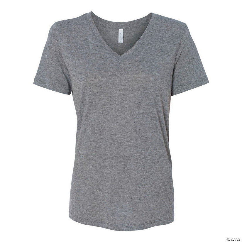 Women's Relaxed Short Sleeve Jersey V-Neck Tee by Bella + Canvas Image Thumbnail