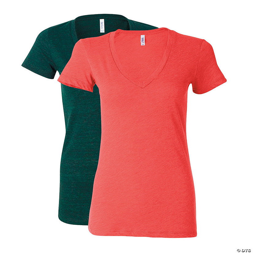 Women's Tri-Blend Deep V-Neck Tee by Bella + Canvas