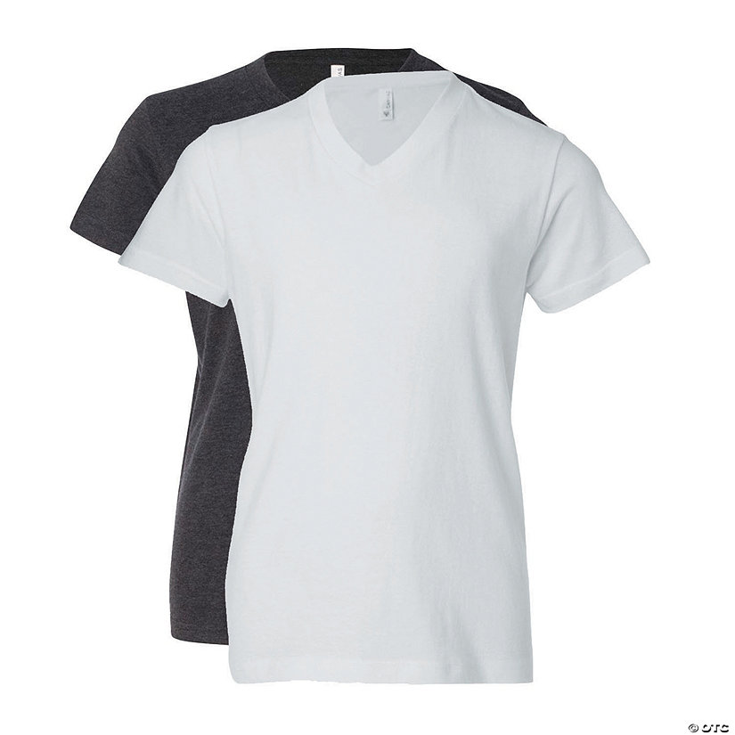 Youth Short Sleeve V-Neck T-Shirt by Bella + Canvas Image Thumbnail