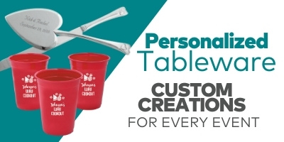 Personalized Tableware. Custom creations for every event