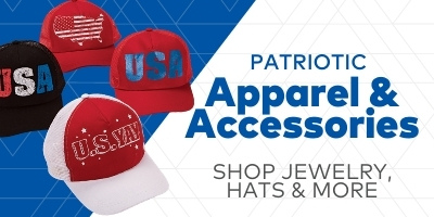 Patriotic Apparel and accessories. Shop jewelry, hats and more