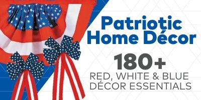 Patriotic Home Decor. Red, white and blue decor essentials