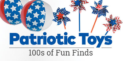 Patriotic Toys. 100s of fun finds