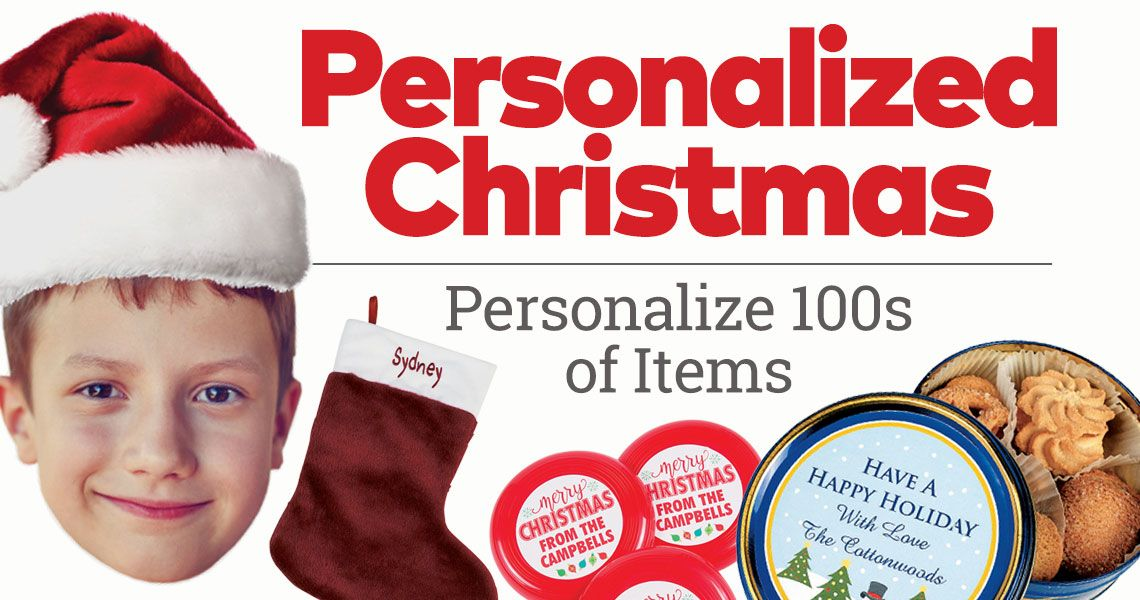 Personalize 100s of Christmas Items