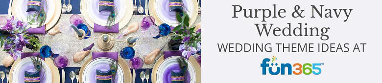 Purple and Navy Wedding Ideas By Fun365