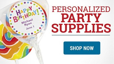 Personalized Party Supplies Shop Now