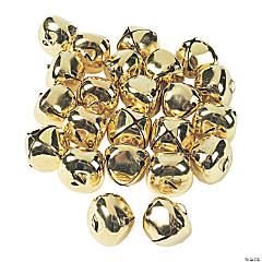"1 1/4"" Jumbo Goldtone Jingle Bells - 24 Pc."