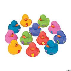 1, 2, 3 Numbers Rubber Duckies