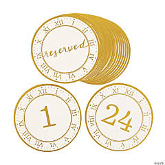 1 - 24 Clock Face Table Numbers
