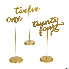 1 - 24 Gold Calligraphy Table Numbers