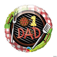 #1 Dad Grill Mylar Balloon