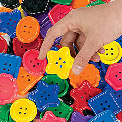 1 Lb. of Plastic Great Big Buttons