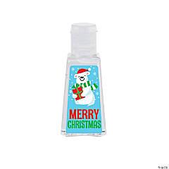 1 oz. Merry Christmas Polar Bear Hand Sanitizer Bottles - 10 Pc.