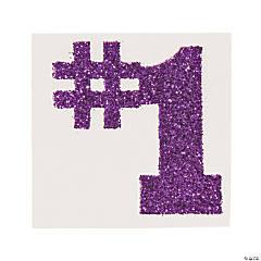 #1 Purple Glitter Tattoo Stickers