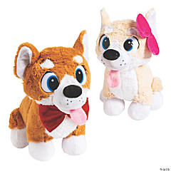 "10"" Boy & Girl Stuffed Corgis"