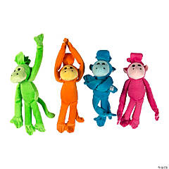 "10"" Bright Long Arm Stuffed Monkeys"