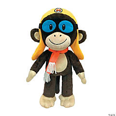 "10"" Cheeky the Aviator Stuffed Monkey"
