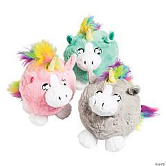 """10"""" Chubby Stuffed Unicorn"""
