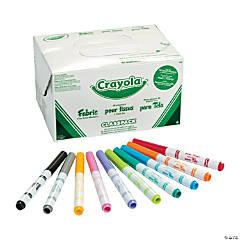 10-Color Crayola® Fabric Marker Classpack®