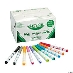 10-Color Crayola<sup>®</sup> Fabric Marker Classpack - 80 pcs