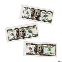 $100 Bill Erasers - 12 Pc.