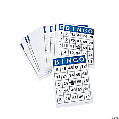 100 Pc. Laminated Jumbo Bingo Cards