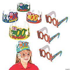 100th Day of School Crowns & Glasses