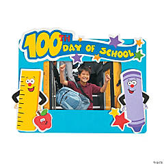 100th Day of School Picture Frame Magnet Craft Kit