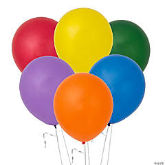 """11"""" Assorted Latex Bright Balloons"""