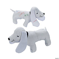 "11"" Autograph Stuffed Dog"