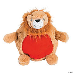 "11"" Inflatable Plush Lion"