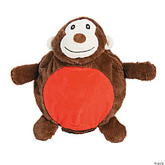"11"" Inflatable Plush Monkey"