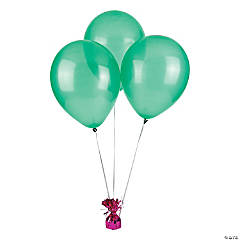 "11"" Latex Emerald Green Balloons (12 pc)"