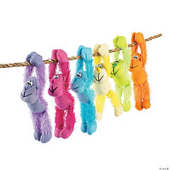 "11"" Long Arm Neon Stuffed Gorillas"