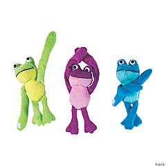 "11"" Long Arm Stuffed Frogs"