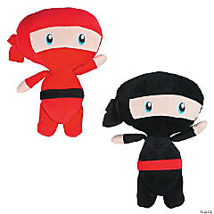 "11"" Plush Black & Red Ninjas"