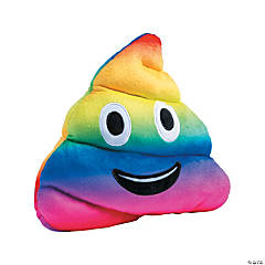 "11"" Plush Rainbow Emoji Poop"