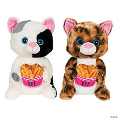 "11"" Stuffed Cats with French Fries"
