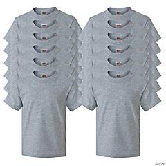 12 Athletic Heather Youth T-Shirts - Medium