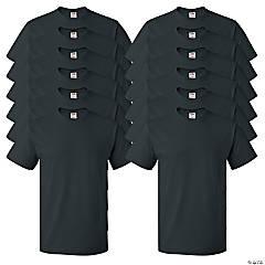 12 Black Adult's T-Shirts - 2XL