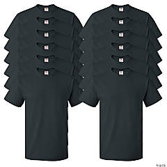12 Black Adult's T-Shirts - Medium