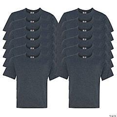 12 Black Youth T-Shirts - Large