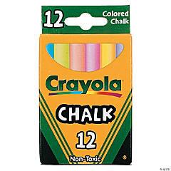 12-Color Crayola® Children's Colored Chalk