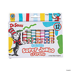 12-Color Dr. Seuss™ Jumbo Crayons